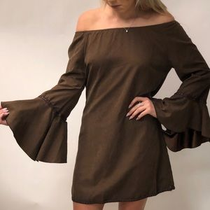 Dresses & Skirts - Brown Suede Dress
